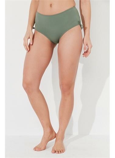 Penti Siyah Basic Yüksek Bel Bikini Altı Yeşil